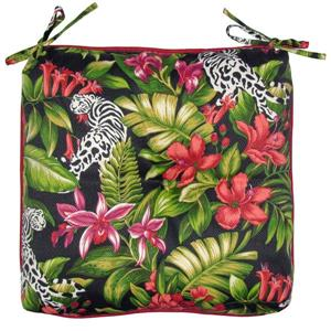 Bozanto Black Floral Reversible Seat Cushion