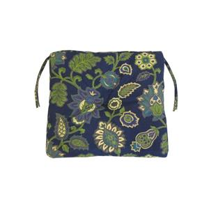 Bozanto 18-in Dark Blue Floral Outdoor Seat Cushion