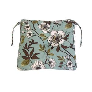 Bozanto 18-in Light Blue Floral Outdoor Seat Cushion
