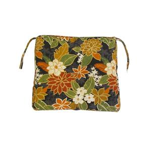 Bozanto 18-in Black Floral Outdoor Seat Cushion