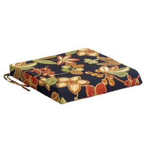 Bozanto 20-in Black Floral Zippered Closure Outdoor Seat Cushion