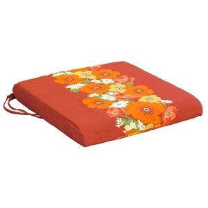 Bozanto 20-in Red Floral Outdoor Seat Cushion