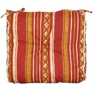 Bozanto Brown Striped Reversible Outdoor Seat Cushion