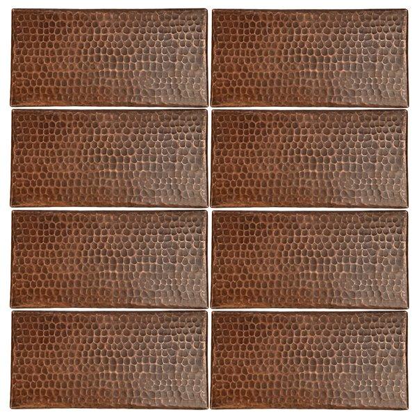 Tuiles en cuivre, 4pox8po, 8 pqt