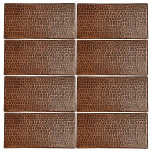 Premier Copper Products Oil Rubbed Bronze Copper Tile 4-in x 8-in (8 pack)