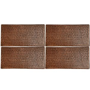Premier Copper Products Oil Rubbed Bronze Copper Tile 4-in x 8-in (4 pack)
