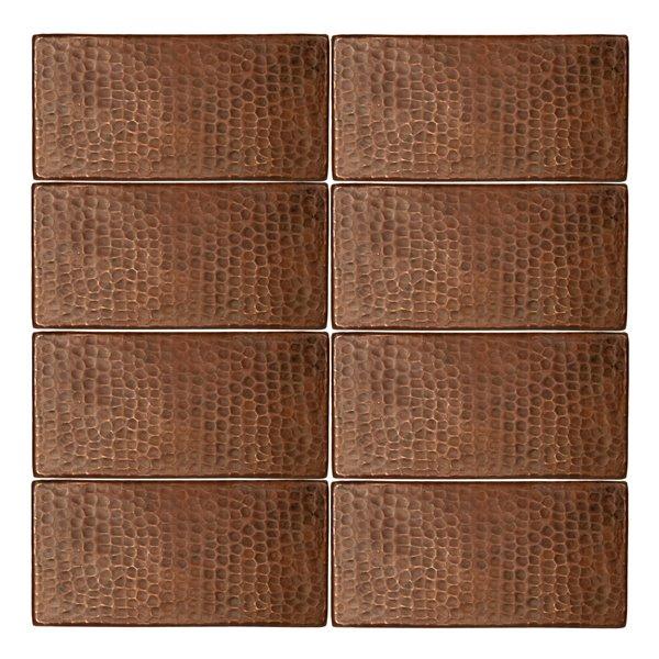 Tuiles en cuivre, 3pox6po, 8 pqt