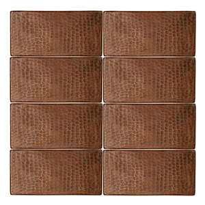 Premier Copper Products Oil Rubbed Bronze Copper Tile 3-in x 6-in (8 pack)