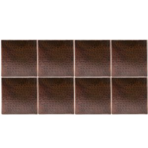 Premier Copper Products Oil Rubbed Bronze Copper Tile 6-in x 6-in (8 pack)