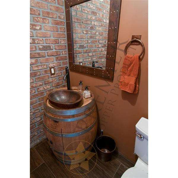 Premier Copper Products 8L Copper Bathroom Trash Can