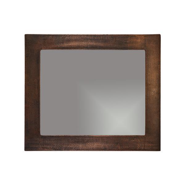 "Miroir de salle de bain rectangulaire, 36"", cuivre"
