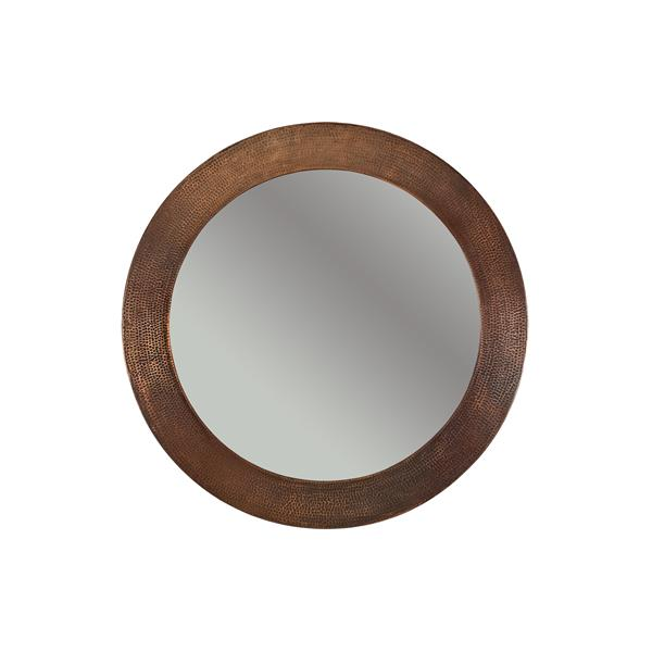 Premier Copper Products 34-in Copper Round Bathroom Mirror