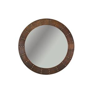 """Miroir de salle de bain rond, 34"""", cuivre"""