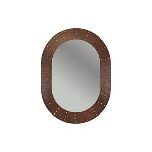"Miroir de salle de bain ovale, 35"", cuivre"