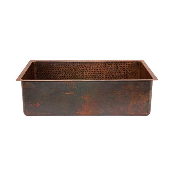 Premier Copper Products 30-in Copper Single Basin Sink with Drain