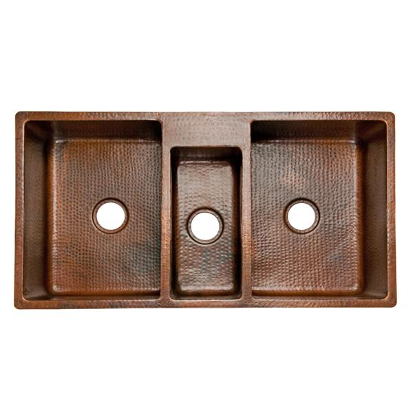 Premier Copper Products 42-in Triple Bowl Sink