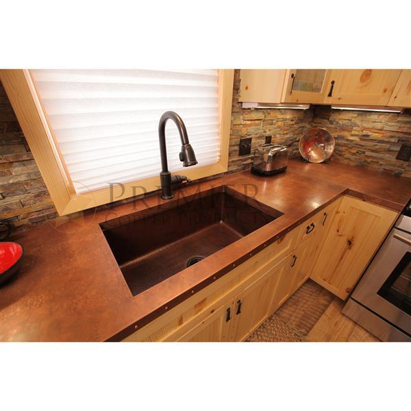 Premier Copper Products 33-in Copper Single Basin Sink