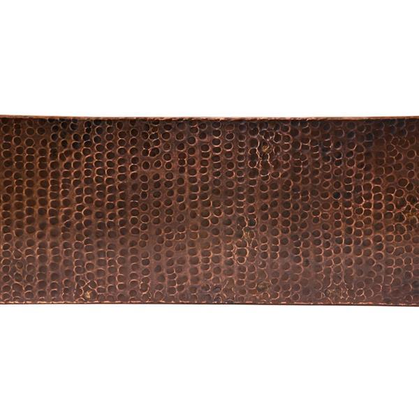 Premier Copper Products 35-in Copper Apron Single Bowl Sink