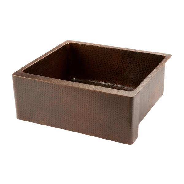 Premier Copper Products 25-in Apron Single Bowl Scroll Sink