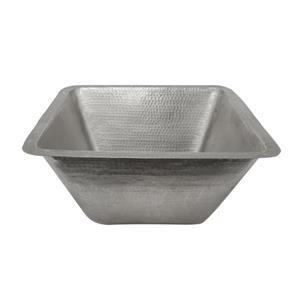 Évier de cuisine Premier Copper, carré, cuivre martelé, 17 po