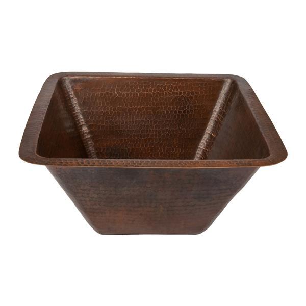 Évier de cuisine Premiem Copper carré, 17 po, cuivre