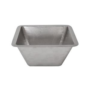 Premier Copper Products 15-in Electroless Nickel Square Sink