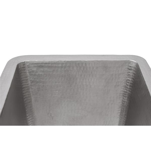 Premier Copper Products 17-in Electroless Nickel Rectangle Sink
