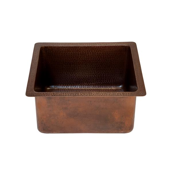 Premier Copper Products 16-in Copper Rectangle Sink