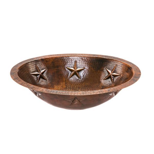 Lavabo d'étoile avec robinet, cuivre