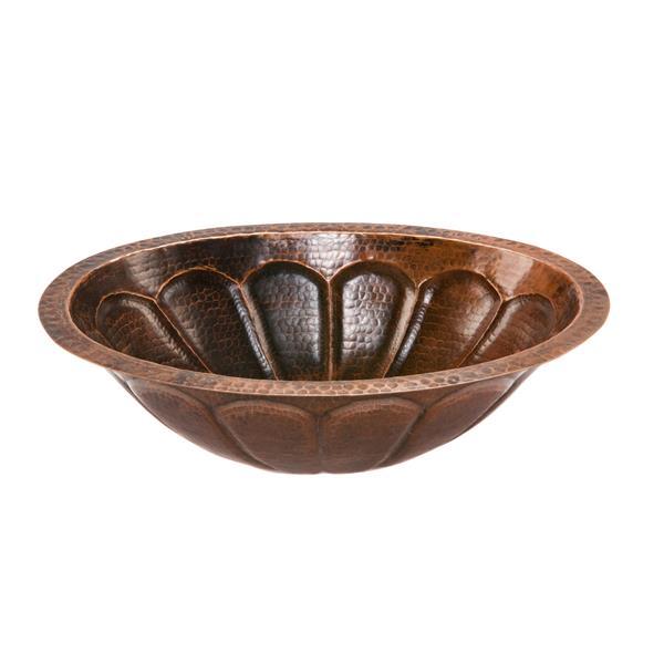 Lavabo soleil avec robinet, cuivre