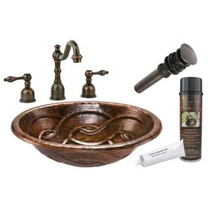 Laavbo tressé avec robinet large, cuivre
