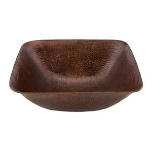 """Lavabo carré Premier Copper, Cuivre, 14.5""""x14.5"""""""