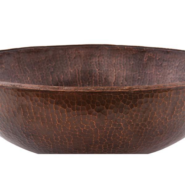 Lavabo ovale large, cuivre