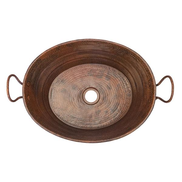 Lavabo Premier Copper cuve ovale, Cuivre