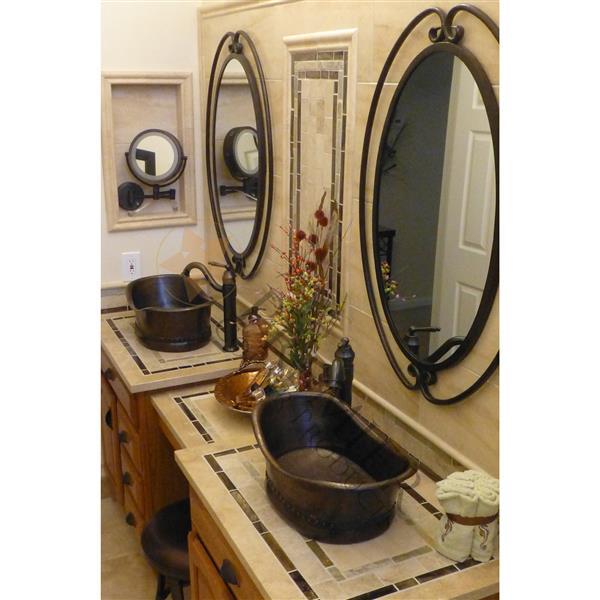 Lavabo de salle de bain, cuivre