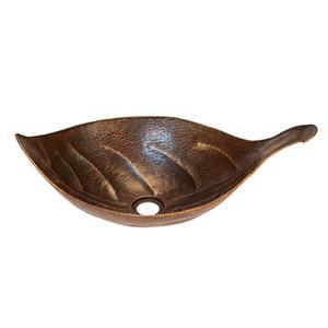 Lavabo à motif de feuilles, cuivre