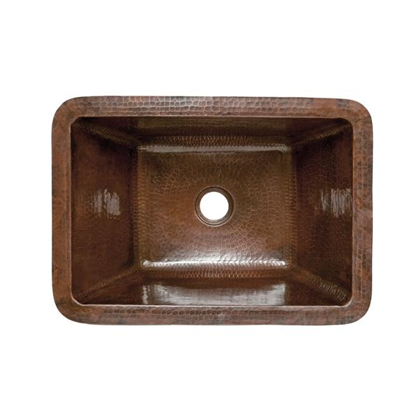 Premier Copper Products Rectangle Bathroom Sink - Copper
