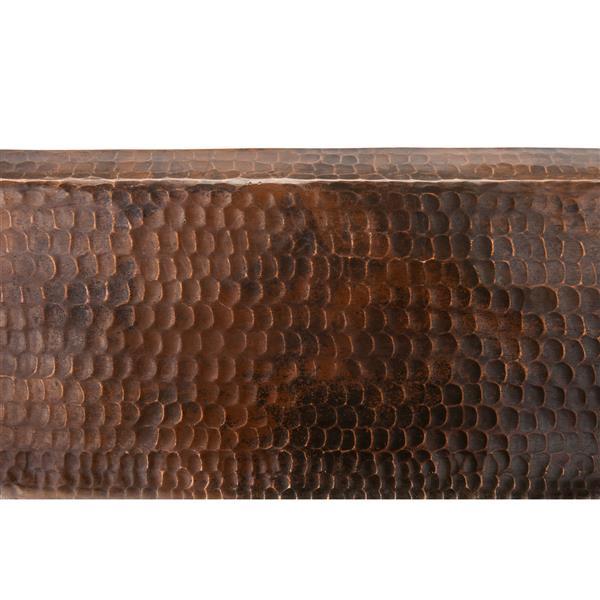 Lavabo rectangulaire, cuivre