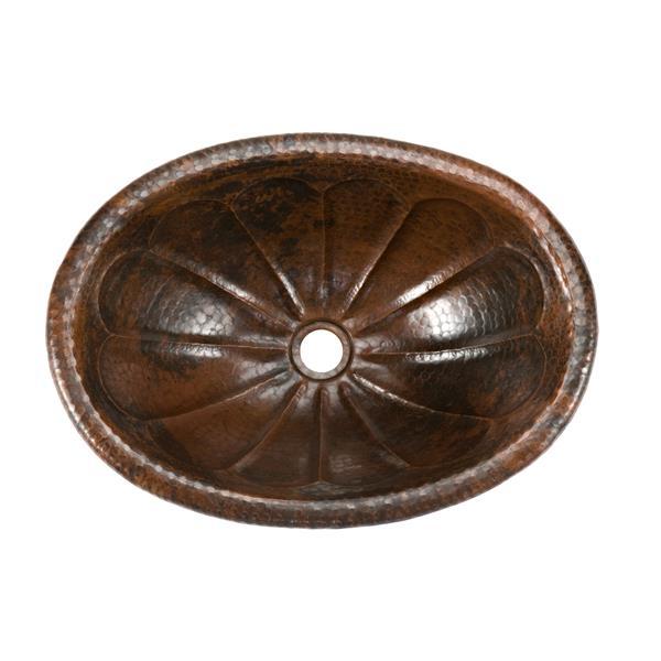 Lavabo ovale Premier Copper, Cuivre martelé