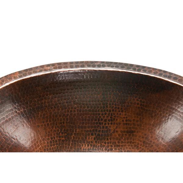 """Lavabo Premier Copper ovale, Cuivre, 19""""x14""""x6"""""""