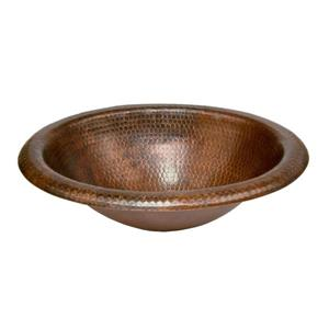 Premier Copper Products Oval Sink Premium Copper - Copper - 18-inx15-inx5-in