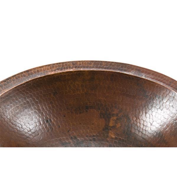 """Lavabo ovale Premier Copper, Cuivre, 17""""x13""""x5"""""""