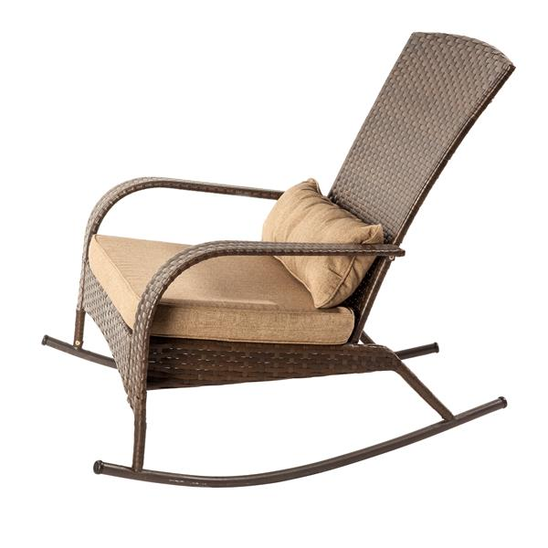 Marvelous Patio Flare Muskoka Brown Linen Sesame Premium Wicker Evergreenethics Interior Chair Design Evergreenethicsorg
