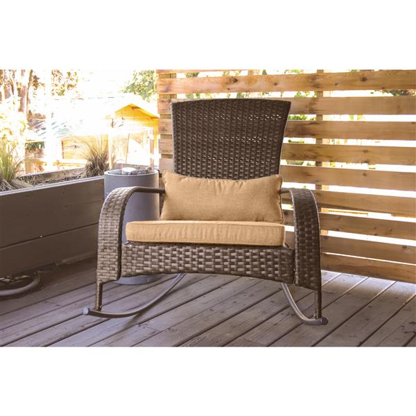 Super Patio Flare Muskoka Brown Linen Sesame Premium Wicker Evergreenethics Interior Chair Design Evergreenethicsorg