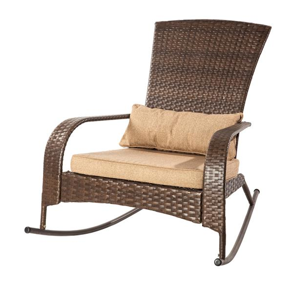 Pleasant Patio Flare Muskoka Brown Linen Sesame Premium Wicker Evergreenethics Interior Chair Design Evergreenethicsorg