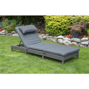 Patio Flare Laura Dark Grey Wicker Lounger