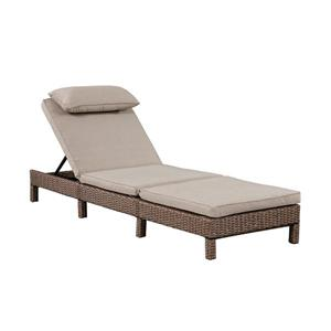 Patio Flare Laura Brown & Beige Wicker Lounge