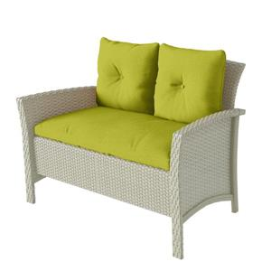 CorLiving 4 pc Grey & Lime Green Rattan Wicker Patio Set