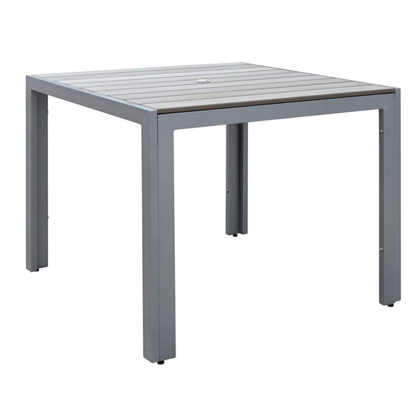 """Table carrée Gallant pour la terrasse, Gris, 36"""""""