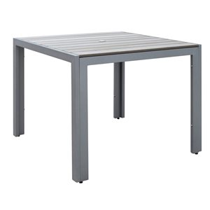 Table carrée Gallant pour la terrasse, Gris, 36